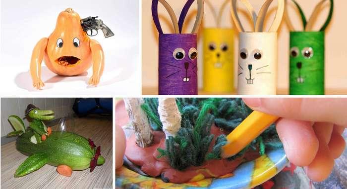 Самые креативные поделки для школы от детей и их родителей-9 фото-