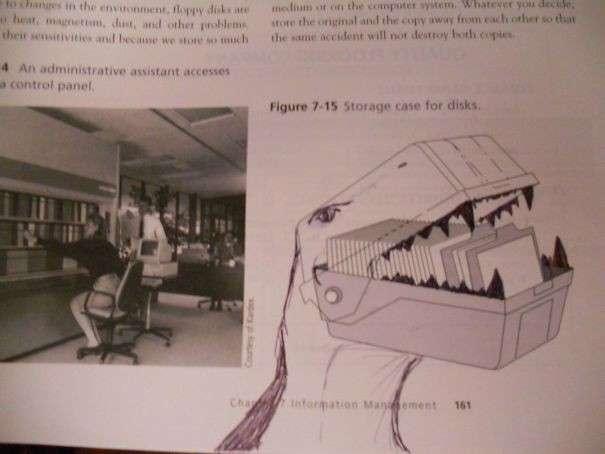 Когда нечем заняться на лекции: 25 гениальных дорисовок в учебниках-26 фото-