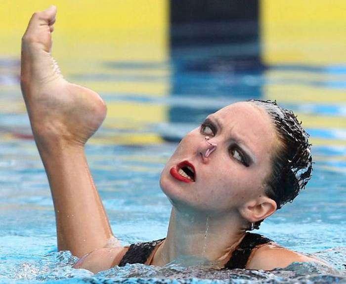 Смешные фото спортсменов во время ответственных моментов-37 фото-