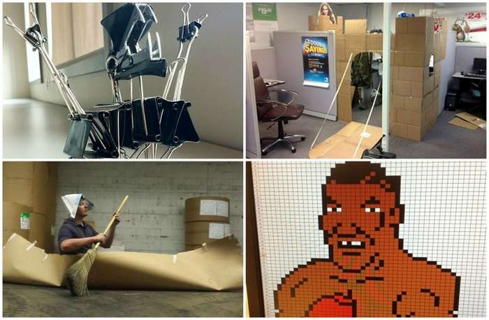 К чему приводит скука на работе: 40 шедевральных примеров-41 фото-