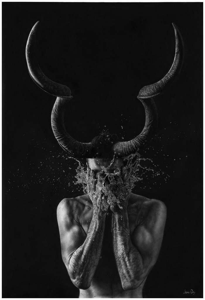 Фотореалистичные рисунки, которые создаёт художник Йоно Драй-14 фото-