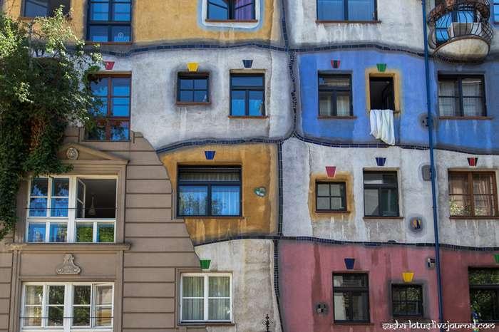 Самое необычное здание в Вене. Дом Хундертвассера-16 фото-