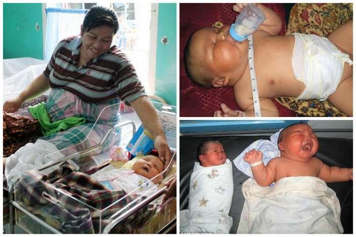 Невероятные младенцы - самые большие и самые маленькие-12 фото-