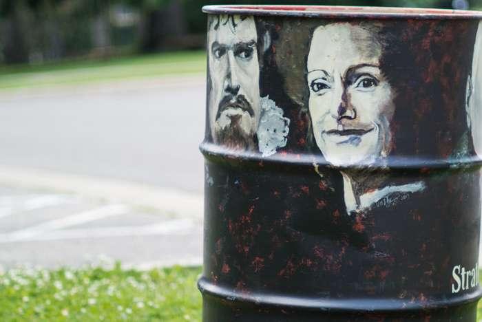 25 нестандартных подходов к оформлению мусорных баков-25 фото-
