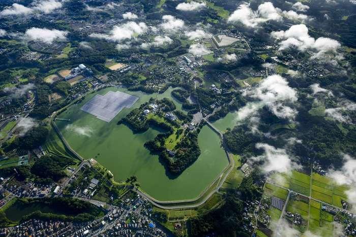 Японские солнечные панели: вид сверху