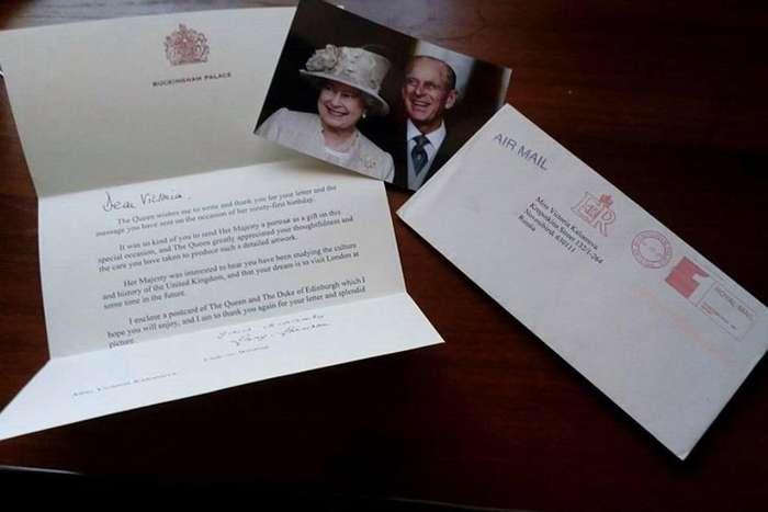 Школьница из Новосибирска получила письмо от Елизаветы II