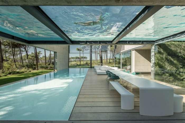 Меж двух бассейнов: необычный дом в Португальской Ривьере