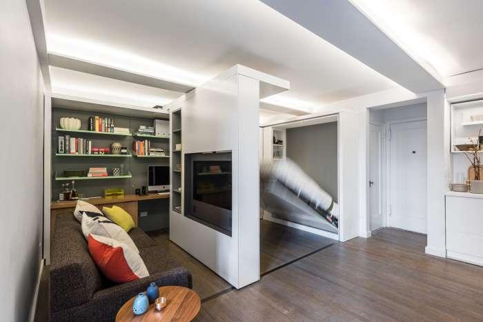 Квартира-трансформер, пространство которой увеличивается в считанные секунды
