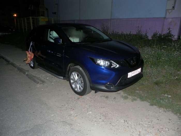 В Чебоксарах автовладелице -подложили свинью- (6 фото)