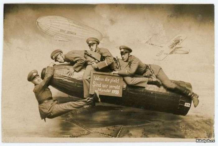 Веселые армейские фотографии 1912 &8212; 1945 годов (24 фото)