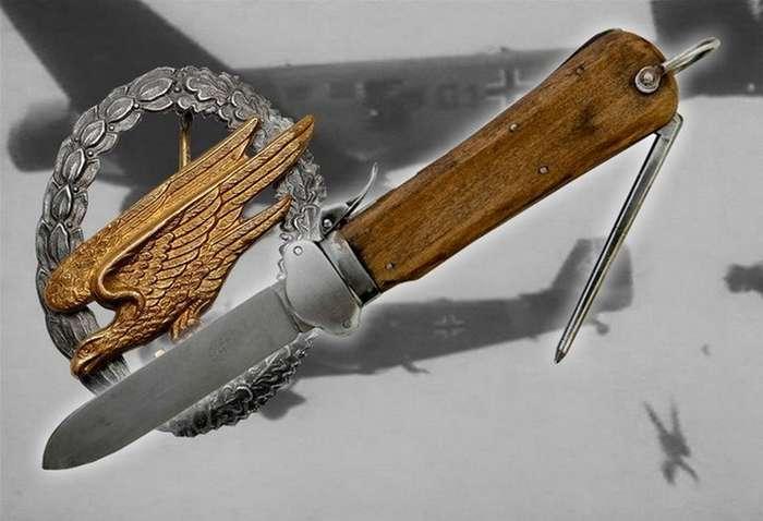 -Luftwaffe Fallschirmjäger-Messer- &8212; самый инерционный известный нож-стропорез (8 фото)