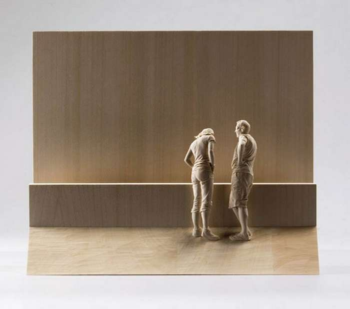 Почти живые деревянные скульптуры людей Питера Демеца (15 фото)