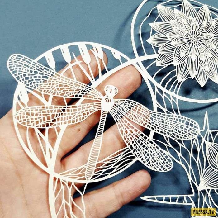 Искусство резьбы по бумаге (29 фото)