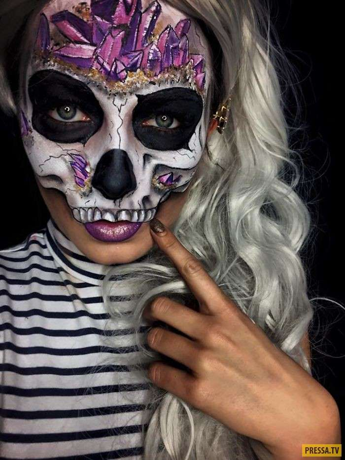 Наполовину красавица, наполовину чудовище – невероятный макияж (9 фото)