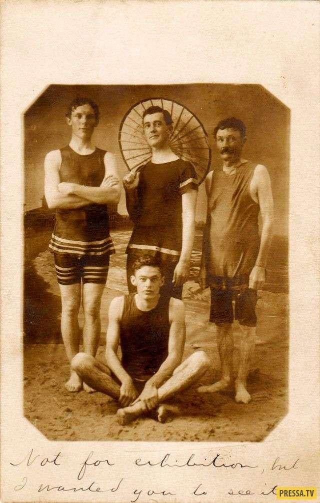О ужас! Эти мужские купальники начала XX века могут свести с ума! (12 фото)