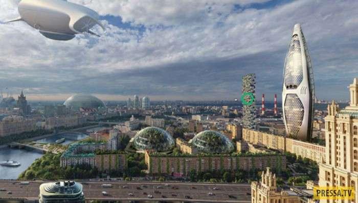 Будущее: Какой будет Москва в 2050 году (8 фото)
