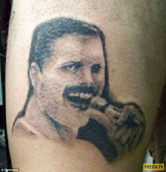 Эти безобразные татуировки с лицами звезд могут напугать кого угодно! (16 фото)