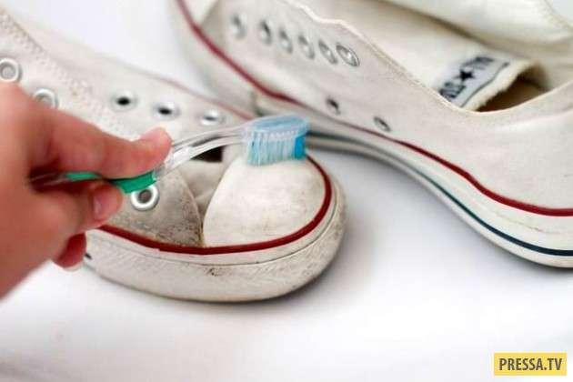 16 крутых лайфхаков со старой зубной щеткой! (16 фото)