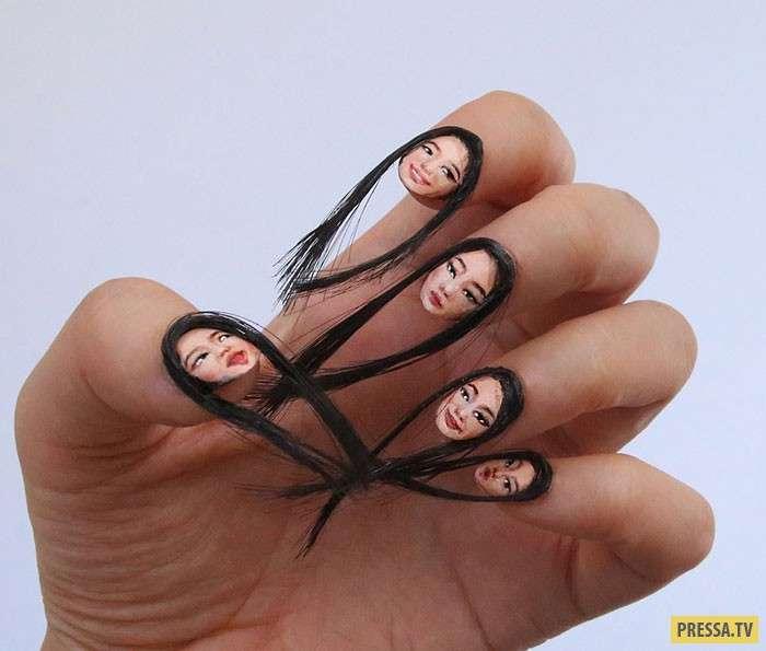 Очень странный маникюр – селфи-ногти (5 фото)
