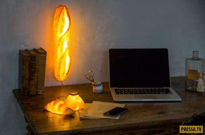 Необычный элемент декора – хлебные лампы (11 фото)