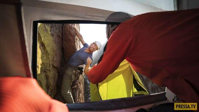 Магазин для альпинистов на отвесной скале в США (5 фото + видео)