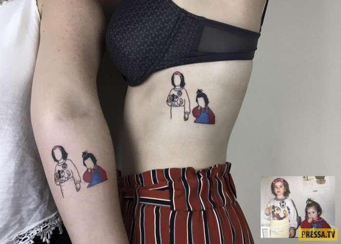 Татуировки увековечивают на теле самые теплые моменты (10 фото)