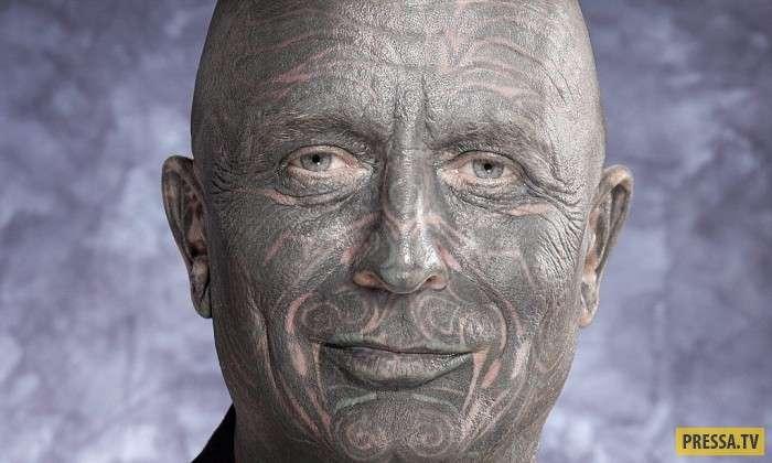 10 самых невероятных тату на лицах (10 фото)