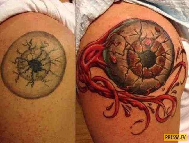 Вот это преображение! Как превратить неудачную татуировку в шедевр (25 фото)