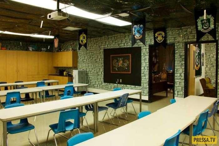 Премия -Учитель года-: американец создал для своих учеников класс Гарри Поттера! (17 фото)