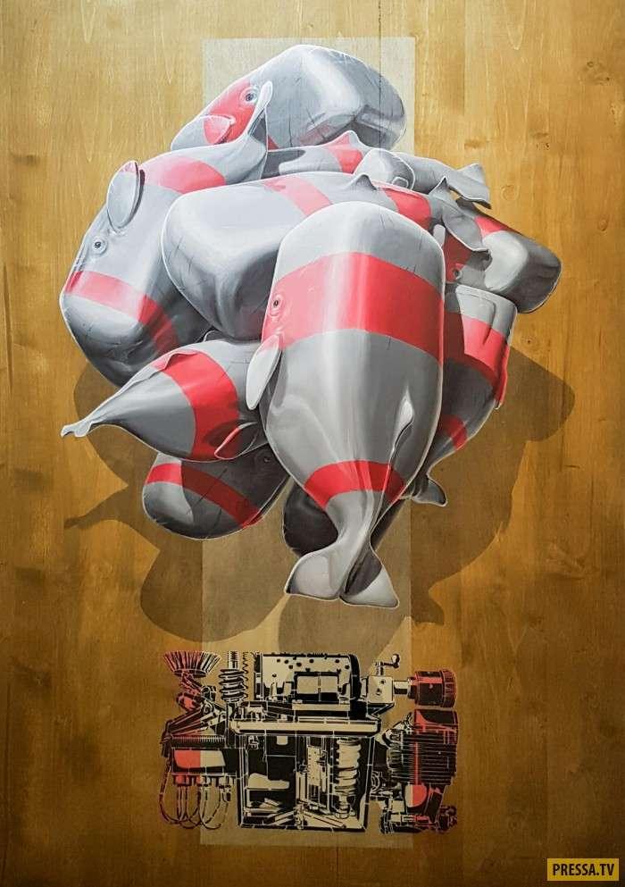 Уличное искусство, как всегда, всех удивило (9 фото)
