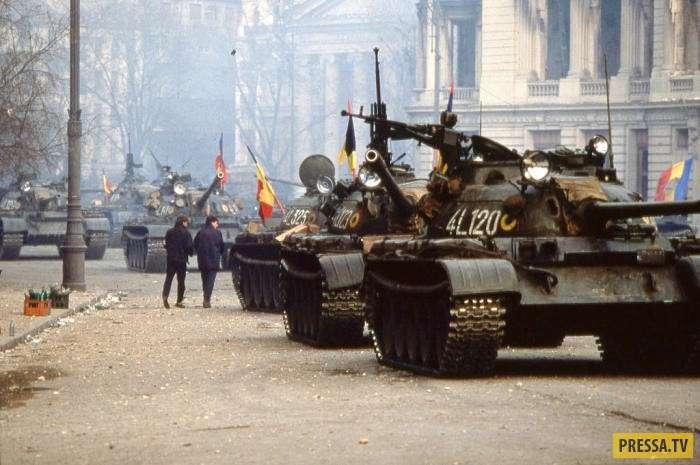 Страницы истории: Свержение режима Николае Чаушеску и его расстрел вместе с супругой (10 фото + видео)