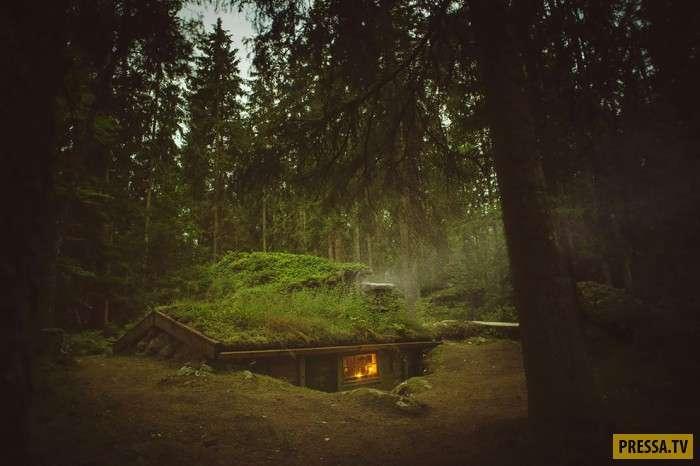 Сказочная землянка, в которой можно жить (12 фото)