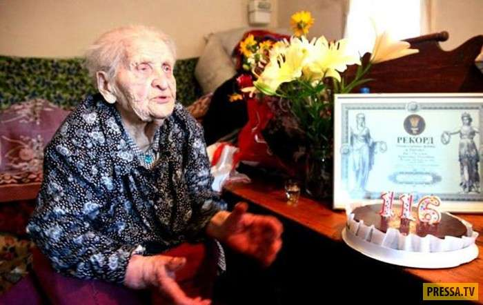 117-летняя Кристина Абрамовна Нагорная - самый старый человек на Земле (7 фото)