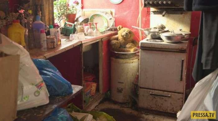Женщина не убирала в своей квартире 9 лет (13 фото)
