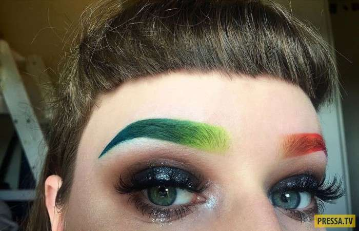 Ох уж эти брови! Самые странные тренды в оформлении бровей (16 фото)