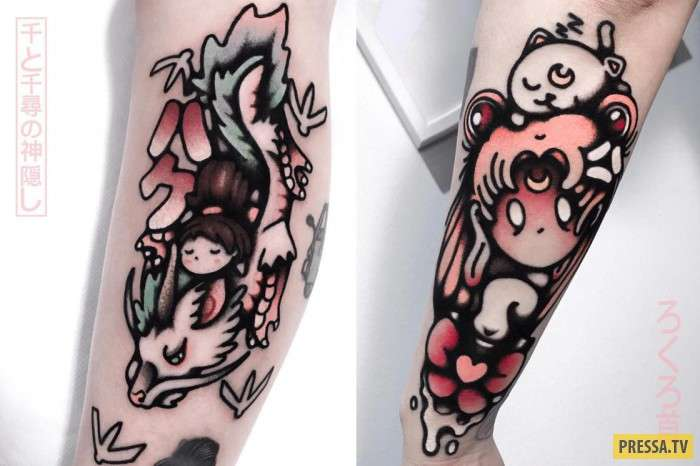 Эти татуировки понравятся всем любителям японской культуры (12 фото)