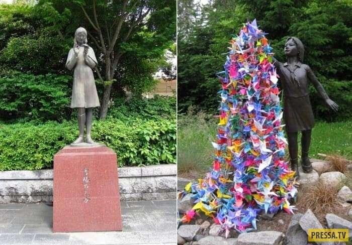 Бумажные журавли и Садако Сасаки - девочка, пострадавшая во время атомной бомбардировки Хиросимы (13 фото + 2 видео)