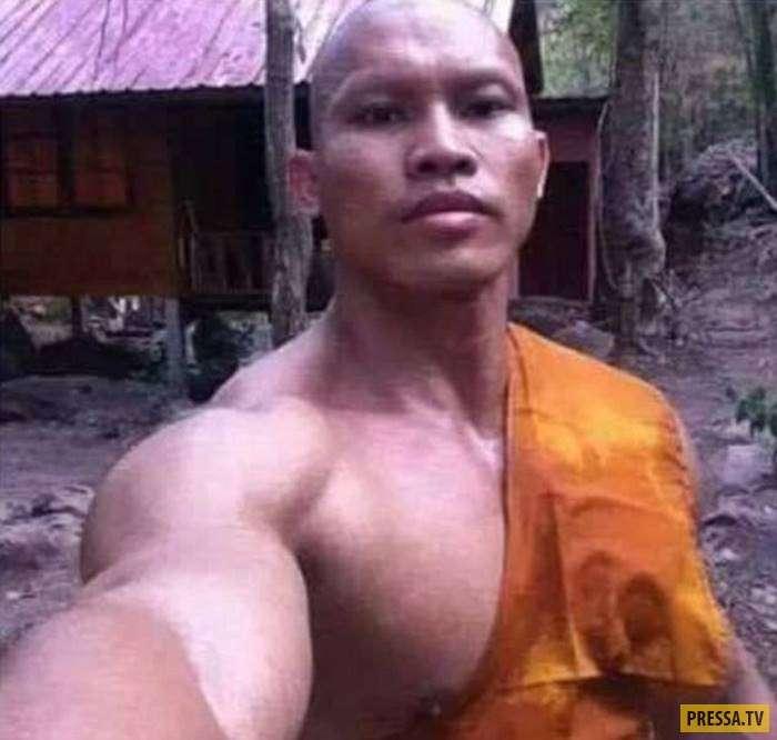Что известно о накаченном тайском монахе, чьи фотографии стали вирусными (4 фото)