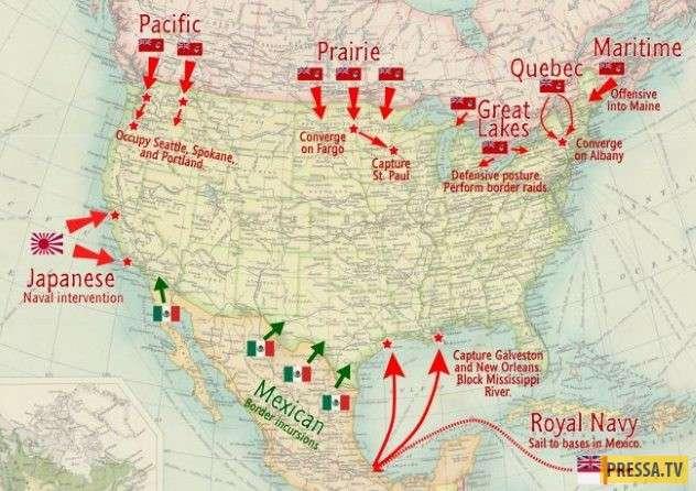 ТОП-10 удивительных и сумасшедших планов, вторжения в другие страны (10 фото)