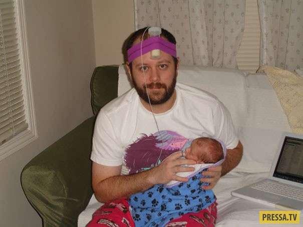 Вот что бывает, когда малыш остается с папой (30 фото)