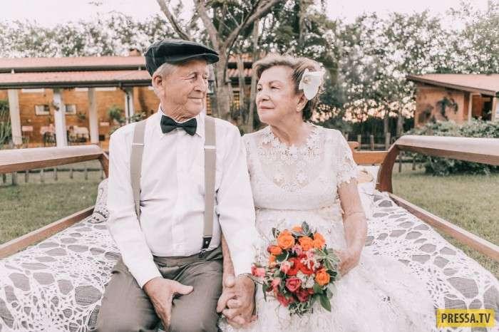 Пара решила сделать свадебные фотографии спустя 60 лет! (11 фото)