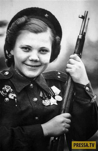 ТОП-10 самых результативных женщин снайперов в Советской Армии (10 фото)