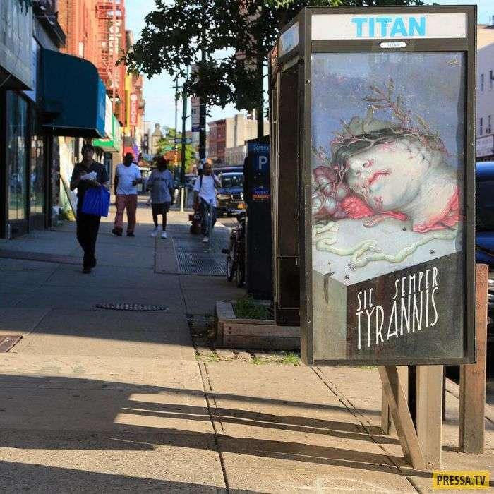 Уличные художники решили украсить старые таксофоны разнообразными картинами (10 фото)