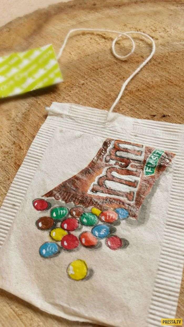 Не спешите выбрасывать свои чайные пакетики, из них можно сделать шедевр (13 фото)