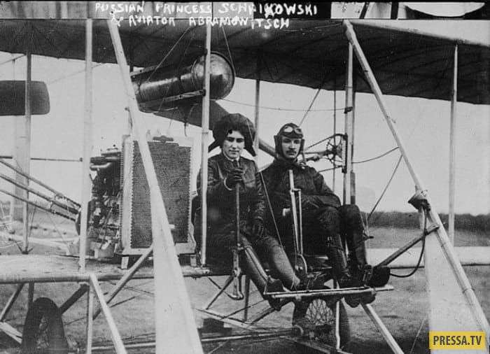 Одна из первых российских женщин-летчиков княгиня Шаховская (8 фото)