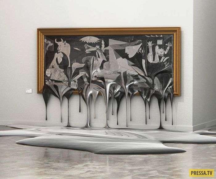 Художник изобразил влияние глобального потепления через картины (7 фото)