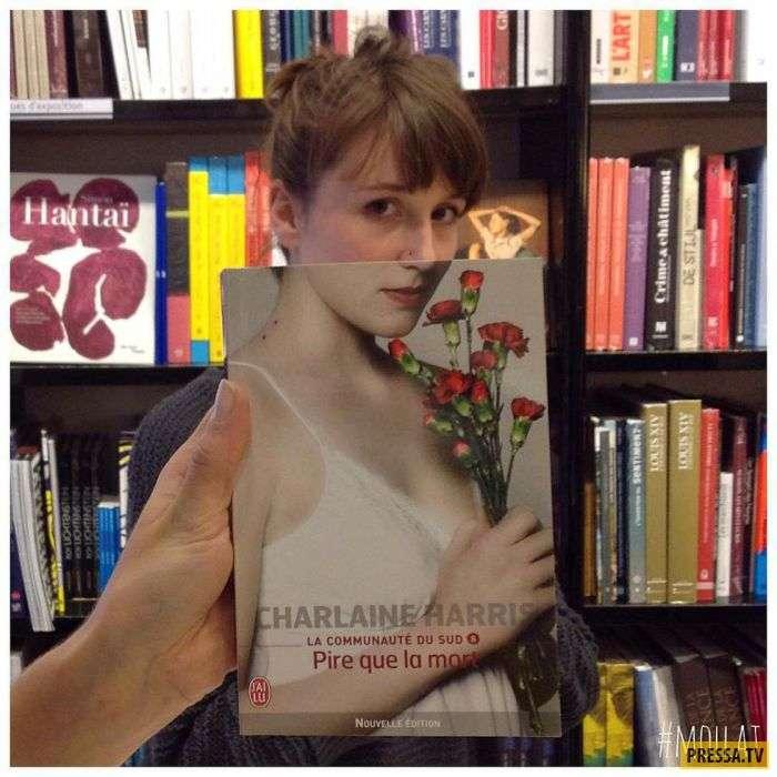 Как нужная книга может кардинально изменить Ваш образ (15 фото)