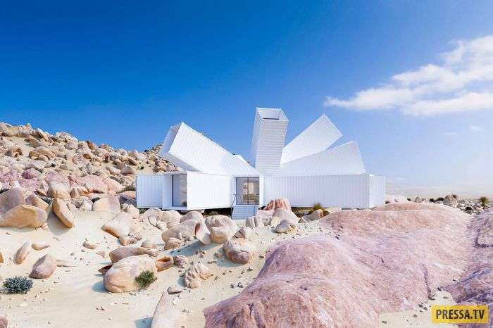 Удивляющий своей геометрией дом, в котором Вы бы захотели побыть подольше (9 фото)
