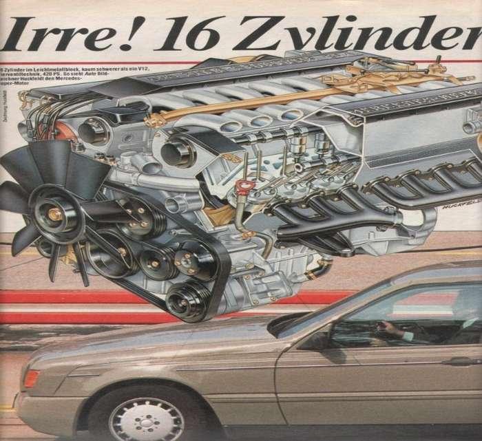 -Восьмисотый- - шестнадцатицилиндровый Mercedes-Benz W140-4 фото-