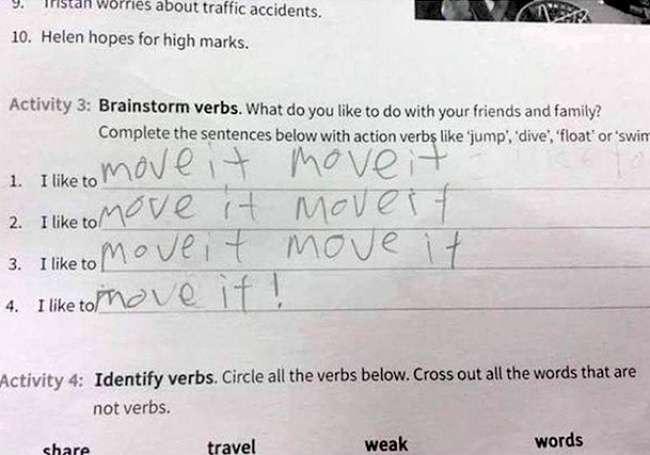 20гениальных ответов детей вшкольных тетрадях